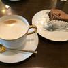 珈琲工房 - 料理写真:チョコケーキとカフェオレ