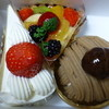 ムッシュ - 料理写真:買って来たケーキ3種類