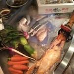 経堂カンザワ - 入り口に鮮魚!