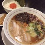 麺ダイニング 福 - 特製マー油入り「黒」セット