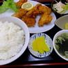 三八飯店 - 料理写真:炸子鶏(若鶏のカラ揚)定食