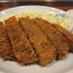 香林坊 - 精進カツ定食:精進カツ、切り干し卵焼き、味噌茄子、ご飯、えのきと茸のお吸い物1