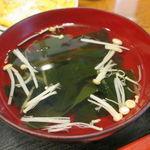香林坊 - 精進カツ定食:精進カツ、切り干し卵焼き、味噌茄子、ご飯、えのきと茸のお吸い物5