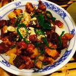 ベトナム料理コムゴン - お肉とクルミが入ったご飯