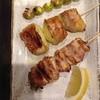 Kawaume - 料理写真:やきとり、ポテト巻、銀杏。