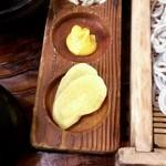 田麦そば - 薬味は芥子