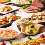 クロスダイン - 和・洋・中の専門シェフによる本格料理約50種類が食べ放題のランチビュッフェ。 期間限定のおすすめ料理が登場します。