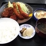 角 - 海老 ヒレ ミックス定食