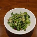 京鼎樓バル - シャン菜の XO醤サラダ