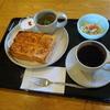 コーヒーハウスさざなみ - 料理写真:アーモンドバータートーストセット(ドリンク付)  450円