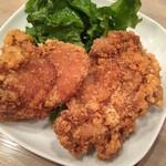 台湾麺線 - 鶏排(台湾風鶏のからあげ)