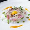 焼 塩美屋 - 料理写真:天然鯛のユッケ
