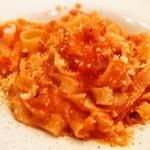 チェーロ - パスタランチ(ベーコンとリコッタチーズのピリ辛トマトソース(手打))