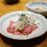 鮨 銀座 鰤門 - メジマグロは玉葱と