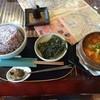 啖啖茶館 - 料理写真:キムチ・チゲ+ご飯/大盛り(750)