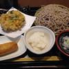 七福 弁天庵 - 料理写真:そば大盛り かき揚げ いなり1こ おろし