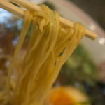 花京 - あっさり鶏がら中華そばの麺