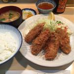 末ぜん - 牡蠣フライ(1300円)
