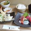 いっかん - 料理写真:【ランチ】お刺身と天婦羅の御膳