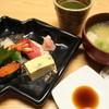 すし田 - 料理写真:ランチコースの握り&味噌汁