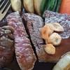 喫茶レストラン フラミンゴ - 料理写真:ロイヤルステーキ切断