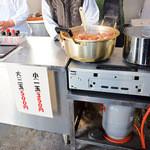 綾川そば - オープンキッチンです。