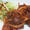 屋台 武ちゃん - 料理写真:馬ヘルツのケチャップ。馬ハツ自体はニクニクしい食感がありながらもあっさりなので、 とろみのある濃厚ケチャップ味が合いますね。