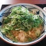 丸亀製麺 - 釜玉うどん(ネギ少な目)