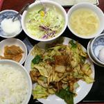 34782927 - 回鍋肉定食780円全景