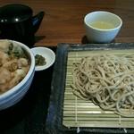 34801619 - 海鮮かきあげ丼とお蕎麦のランチセット