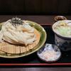 麺岐 - 料理写真:2015年2月再訪:かしわ天ざるうどん 大盛り☆