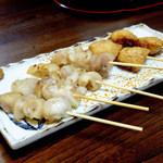 円 - 鶏明太子串、美人串