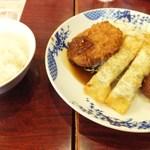バーミヤン - 料理写真:⑤肉団子&メンチカツ&棒揚げ餃子+ドリンクバー