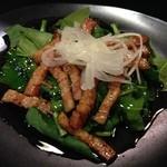 Dai - ほうれん草サラダ(バルサミコのHotソース)750円のソース
