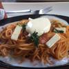ウィズユー - 料理写真:パスタセットのナポリタン。マヨネーズが乗ってます。