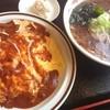 あずま亭 - 料理写真:フワオムライスセット 醤油ラーメン