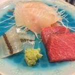 銀座寿司幸本店 - 平目/さより昆布〆/中とろ