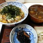 呑喰処 とんかつ 寿々女 - かつ丼 (ご飯少なめ)
