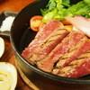 蕎麦 一 - 料理写真:国産和牛ステーキとお蕎麦2000円