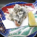 神楽坂ささ木 - 馬糞ウニと海苔の揚げ物