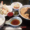 和食 いろは - 料理写真:竹定食「天ぷら・たぬきうどん・小ごはん」1,000円