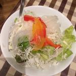 フジオ軒 - ステーキカレーのサラダ