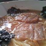 ビリケン食堂 - 野沢菜キムチ入りみそラーメン(アップ)