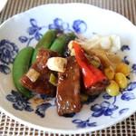 中国料理 皇苑 - 牛ヒレ肉の豆鼓味噌炒め2