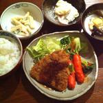 橙 - 鯵のフライランチ500円 (2015-02-12)