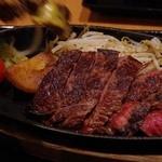 35030477 - 黒毛和牛ランプステーキ定食(2014.11)