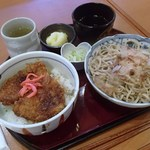 越前和食処 花はす - ソースかつ丼とおろしそば 1,050円 (2014.09)