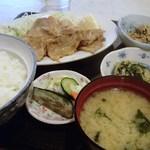 あおい食堂 - しょうが焼き定食 850円(2014.09)