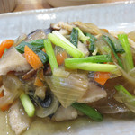 福岡薬院タニタ食堂 - メインのサワラの野菜あんかけ。美味しいのですが、味がかなり薄いです。 でも、とても身体に良さそうです。