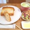 ブルー ツリー カフェ - 料理写真:モーニングセット(抹茶カフェラテ)